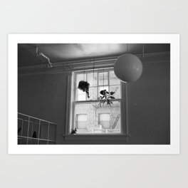 Hanging Shapes Art Print