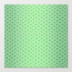 Green Mermaid Scales Canvas Print