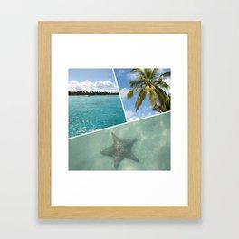 Caribbean Photo Collage - Isla Saona Framed Art Print