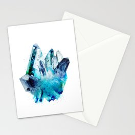 Watercolor Gemstone Stationery Cards