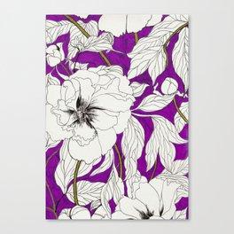 Purple Peonies Canvas Print