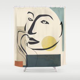 Abstract Face II Shower Curtain