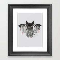 Cat Bat Framed Art Print