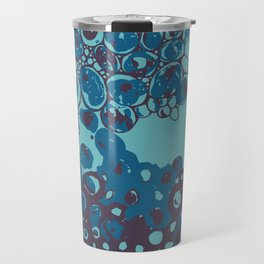 Soap bubbles - blue / magenta circles Travel Mug