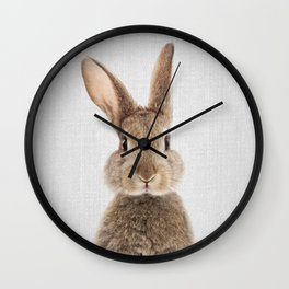 Rabbit - Colorful Wall Clock