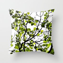 LITTLE GREEN Throw Pillow