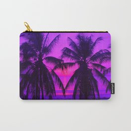 Pink Palm Trees by the Indian Ocean Carry-All Pouch