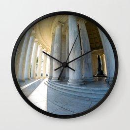 Round Jefferson Wall Clock