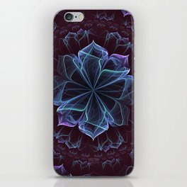 Ornate Blossom in Cool Blues iPhone Skin