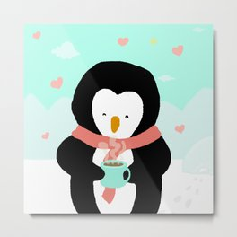 Lovely Penguin Metal Print