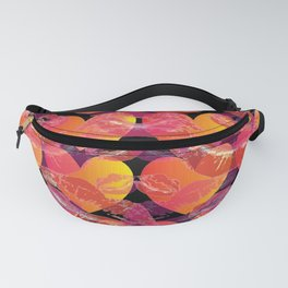 Red Ombre Heart Love and Pink Kisses Layered Pattern Fanny Pack
