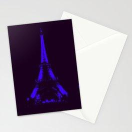 paris Eiffel Tower Indigo Blue Stationery Cards