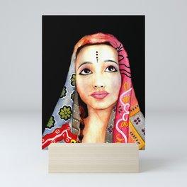 Indian Girl Painting Mini Art Print