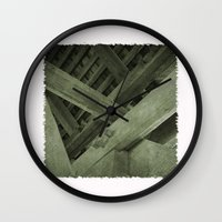 strong Wall Clocks featuring Strong by Pepe Rodriguez