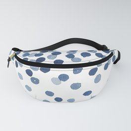 Blue Confetti Falling From the Sky Fanny Pack