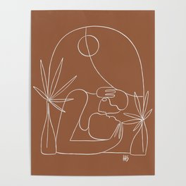 Dreamers no.4 (terracotta) Poster