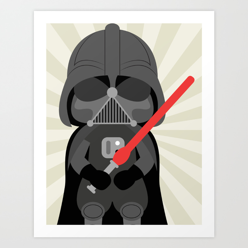 Darth Vader Star Wars Wall Art Print Neutral Art Print By