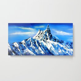 Panoramic View Of Everest Mountain Peak Metal Print