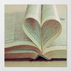 i heart books Canvas Print