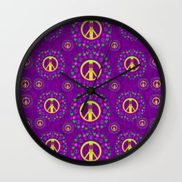Peace be with us in love and understanding Wall Clock