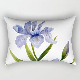 Purple Iris Rectangular Pillow