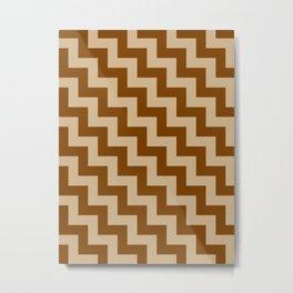 Tan Brown and Chocolate Brown Steps LTR Metal Print
