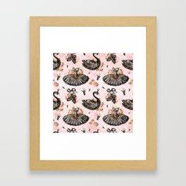 Black swans ballerina #1 Framed Art Print