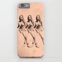 Raquel Welch in Triplicate iPhone Case