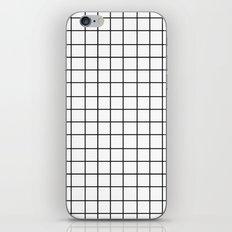 Grid (Black/White) iPhone & iPod Skin