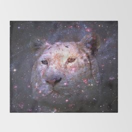 Tiger and Galaxy Throw Blanket