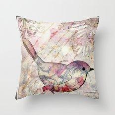 Sweet autumn birdie Throw Pillow