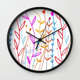 Floral Print by Ashley Percival Wall Clock