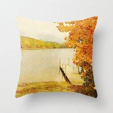 Crystal Lake, Maine Throw Pillow