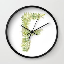 Initial F Wall Clock