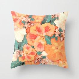 Aloha Orange Sherbet Throw Pillow