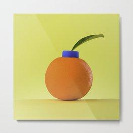 Fruta de Naranja Metal Print