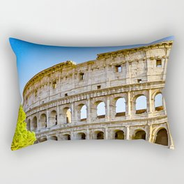 Vita Bellissima (Beautiful Life): Colosseum in Rome, Italy Rectangular Pillow