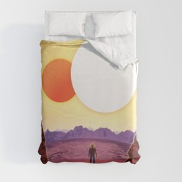 NASA Visions of the Future - Relax on Kepler-16b Duvet Cover