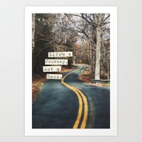 journey Art Prints featuring Journey by Brandy Coleman Ford