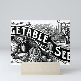 General List of Vegetable Seeds (1894) Mini Art Print