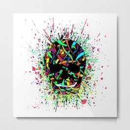 COLOUR SKULL  Metal Print