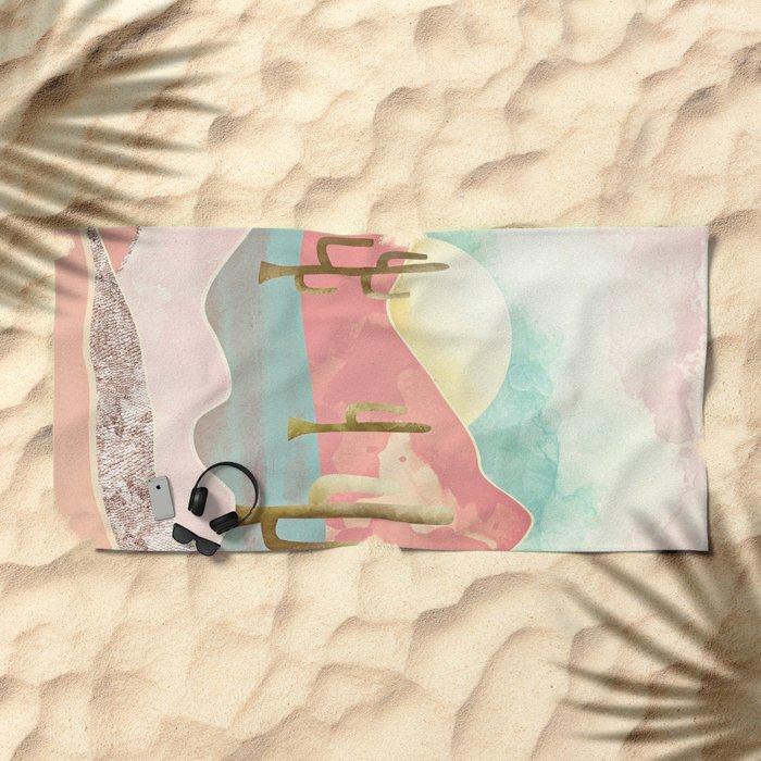 Desert Mountains Beach Towel