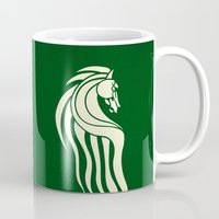 gondor Mugs featuring Rohan Horse heraldry by Nxolab