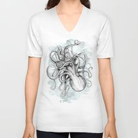 sea V-neck T-shirts featuring The Baltic Sea by David Fleck