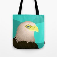 eagle Tote Bags featuring Eagle by Nir P