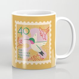 Hummingbird Postage Stamp Coffee Mug