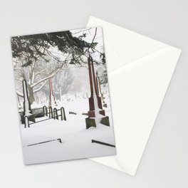 Cemetery Snowdrifts Stationery Cards