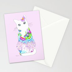 Blue-Eyed Lilac Kitty Stationery Cards