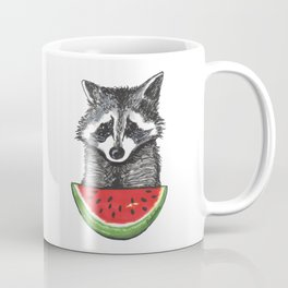 Racoon and watermelon Coffee Mug