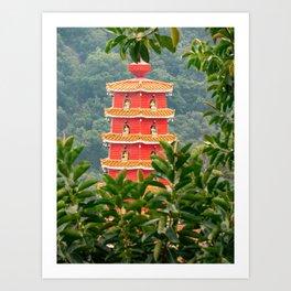 Pagoda, Ten Thousand Buddhas Monastery, Hong Kong Art Print